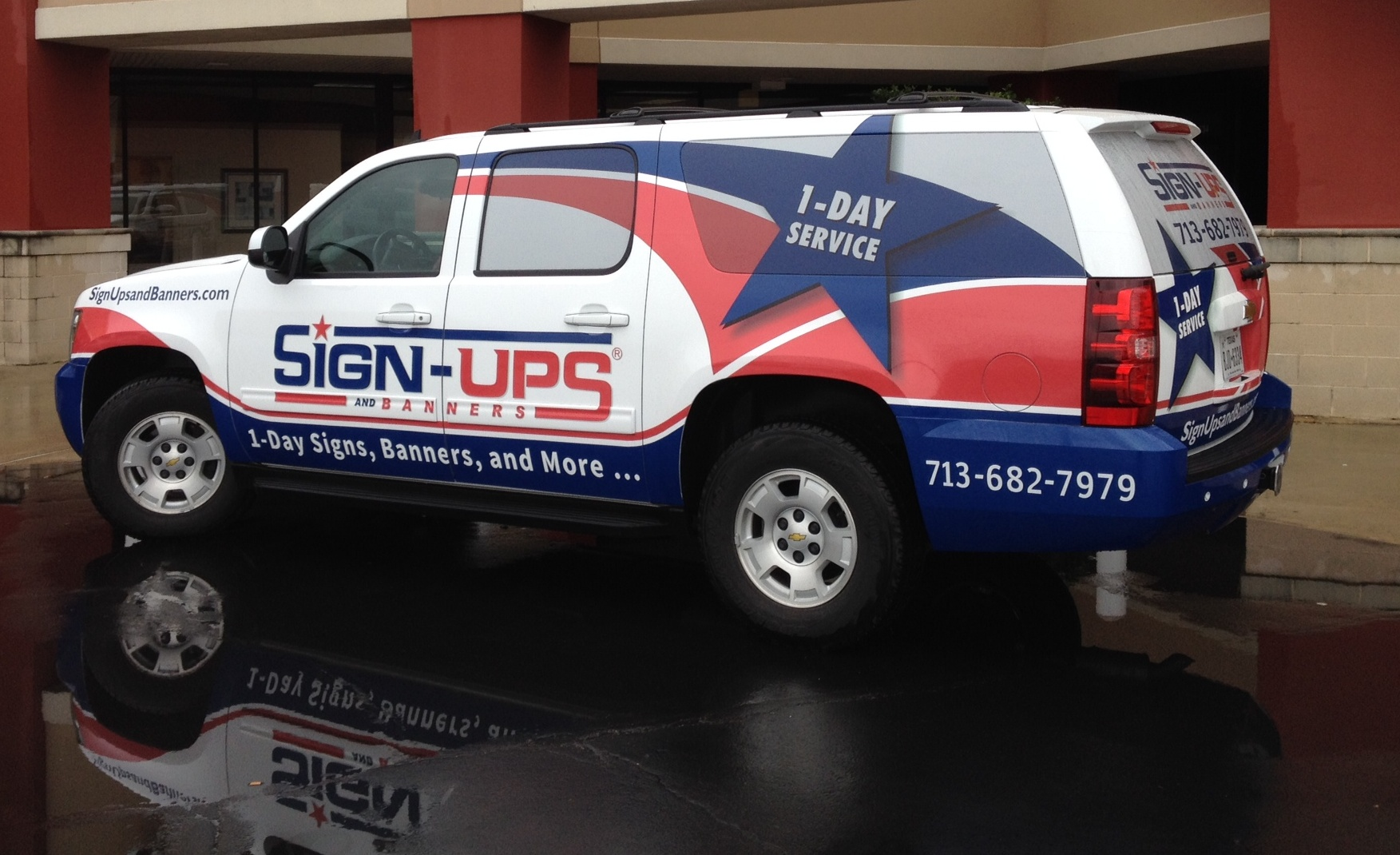 Chevy suburban vehicle wraps plus graphics sign ups and for Banner wrap